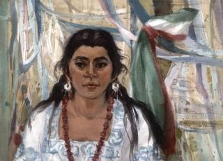 """Cinco de Mayo"" 1977 © Eileen Monaghan Whitaker 22x30 inches"