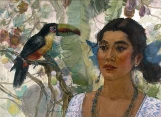 """Maya Woman"" 1977 © EIleen Monaghan Whitaker 22x30 inches"