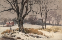 """Winter New England"" 1962 © Eileen Monaghan Whitaker 13.7 x 22.5"