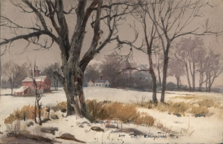 """Winter New England"" 1962 © Eileen Monaghan Whitaker 13.7 x 22.5"