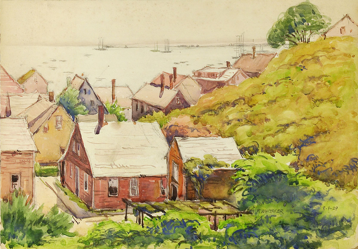 """Provincetown, MA 1929 © Frederic Whitaker 10.75x15 inches Watercolor"