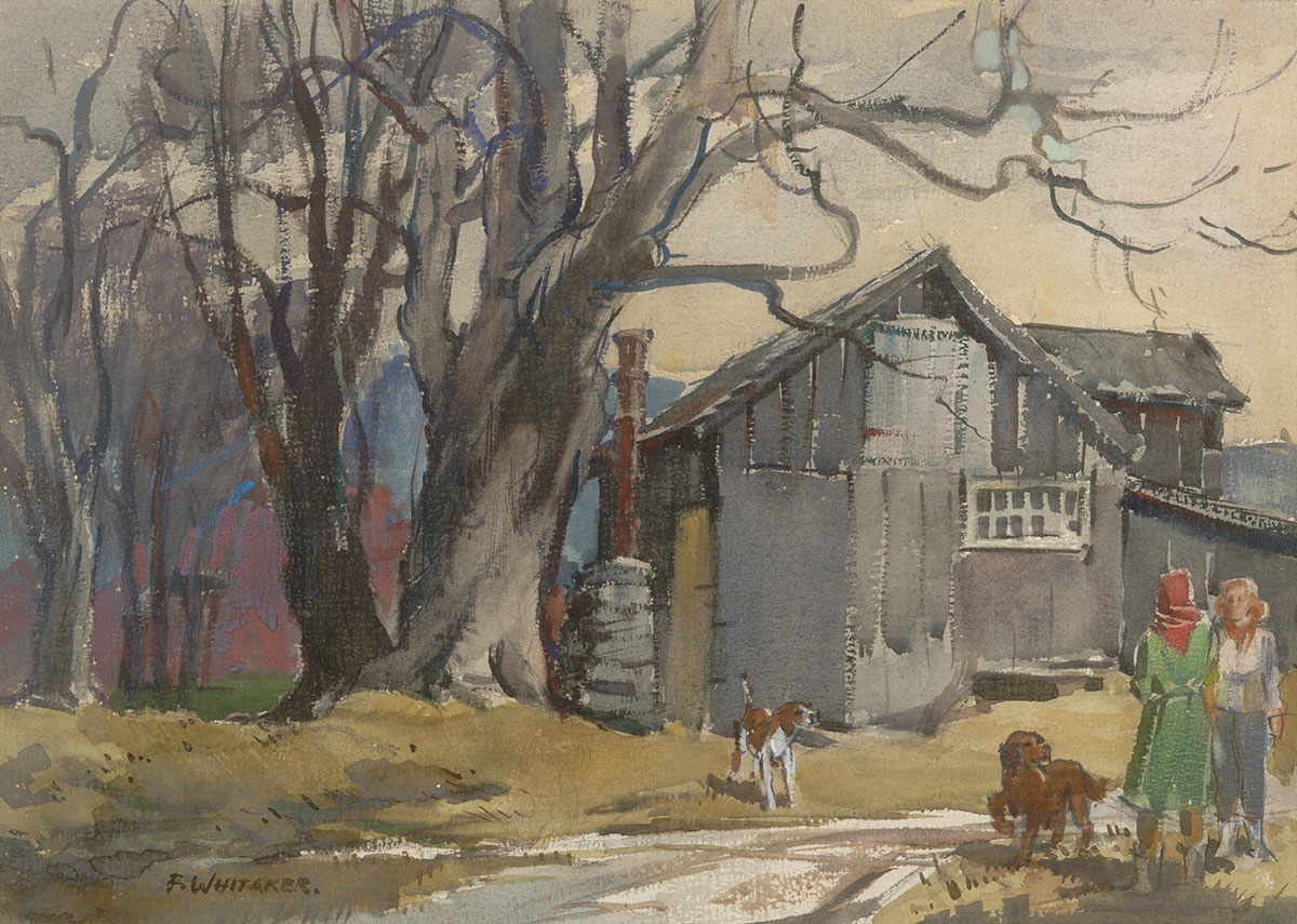 """Tool Shed"" 1964 © Frederic Whitaker 16x22 inches Watercolor"