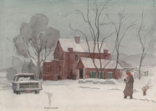 """""""February Fog"""" 1969 © Frederic Whitaker 16x22 inches Watercolor"""