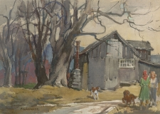 """""""Tool Shed"""" 1964 © Frederic Whitaker 16x22 inches Watercolor"""