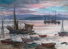 """""""Day is Done"""" 1950 © Frederic Whitaker 22x30 inches Watercolor"""