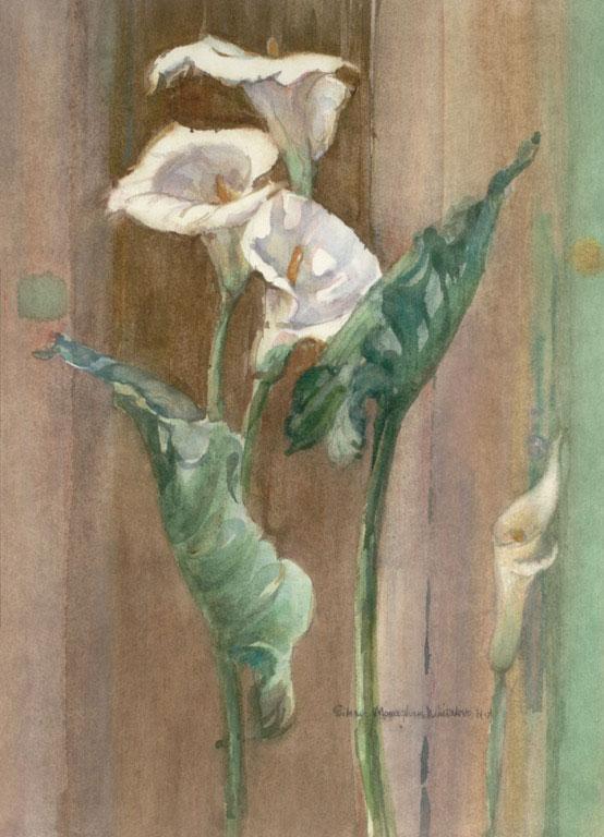 """Callas Everywhere"" 1984 © Eileen Monaghan Whitaker N.A. 22x16 inches Watercolor"