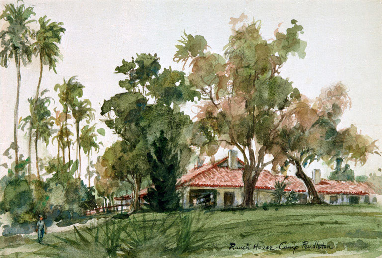 """""""Ecke Ranch"""" © Eileen Monaghan Whitaker 9x12 inches Watercolor"""