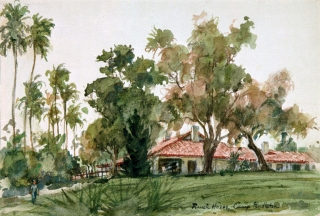 """Ecke Ranch"" © Eileen Monaghan Whitaker 9x12 inches Watercolor"