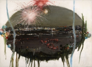 Fireworks over San Diego 1979 © Eileen Monaghan Whitaker 22x30 inches