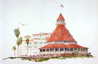 """Hotel Del Coronado"" © Eileen Monaghan Whitaker"