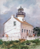 """Point Loma Lighthouse"" 1984 © Eileen Monaghan Whitaker N.A. 18x14 inches Watercolor"