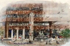 """First Interstate Plaza - Downtown San Diego"" © Eileen Monaghan Whitaker Watercolor"