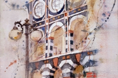 """Horton Plaza"" © Eileen Monaghan Whitaker 9x11 inches Watercolor"