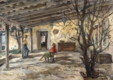 """""""Peter Hurd's Place"""" 1950s © Eileen Monaghan Whitaker 14x20 inches"""