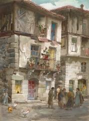 """""""La Alberca Note"""" 1970 © Frederic Whitaker N.A.  22x30 inches Watercolor"""