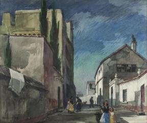 """Street in Granada"" © Frederic Whitaker 22x30 inches Watercolor"
