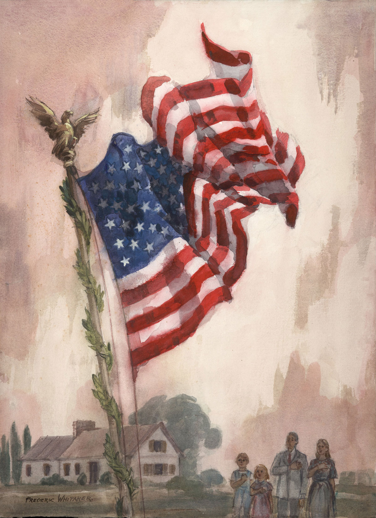 """I Pledge Allegiance To The Flag"" 1967 © Frederic Whitaker 30x22 inches"