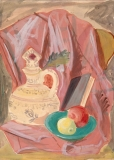 """""""Still Life"""" © Frederic Whitaker 13x16 inches (date unknown) Watercolor"""
