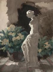 """Statuette"" 1950s © Frederic Whitaker 22x30 inches"
