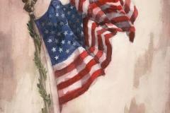 """I Pledge Allegiance To The Flag"" 1967 © Frederic Whitaker 30x22 inches"