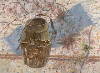 """The Honey Pot"" 1982 © Eileen Monaghan Whitaker N.A. 22x30 inches Watercolor"