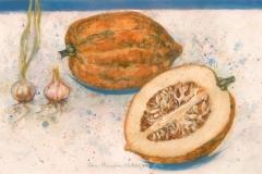 """Acorn"" 1997 © Eileen Monaghan Whitaker  N.A. 14x22.75 Watercolor"