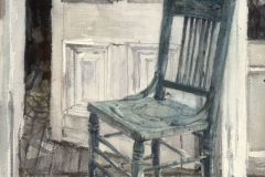 """""""Blue Chair """" 1967 © Eileen Monaghan Whitaker 22x27.5 inches Watercolor"""