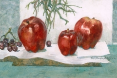 """""""Delicious"""" 1995 © Eileen Monaghan Whitaker N.A.  14x22 inches Watercolor"""
