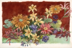 """""""Easter Flowers"""" 1992 © Eileen Monaghan Whitaker 14x22 inches Watercolor"""