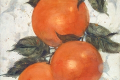 """""""Love for Three Oranges"""" 1995 © Eileen Monaghan Whitaker N.A. 30x22.5 inches Watercolor"""