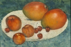 """""""Sweet Fruits of Summer"""" 1995 © Eileen Monaghan Whitaker N.A.  16x22.75 inches Watercolor"""
