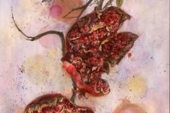 """""""Granadas"""" 1991 © Eileen Monaghan Whitaker N.A.  22x30 inches Watercolor"""