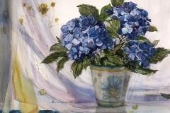 """Hydrangeas"" date unknown © Eileen Monaghan Whitaker size unknown Watercolor"
