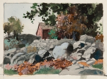 Sketch- New England maybe Rhode Island 1950s  © Frederic Whitaker 5.5x7.25