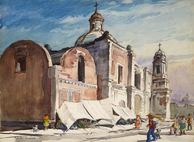 """Pro Deo, Pro Populo"" 1947 © Frederic Whitaker 30x22 inches Watercolor"