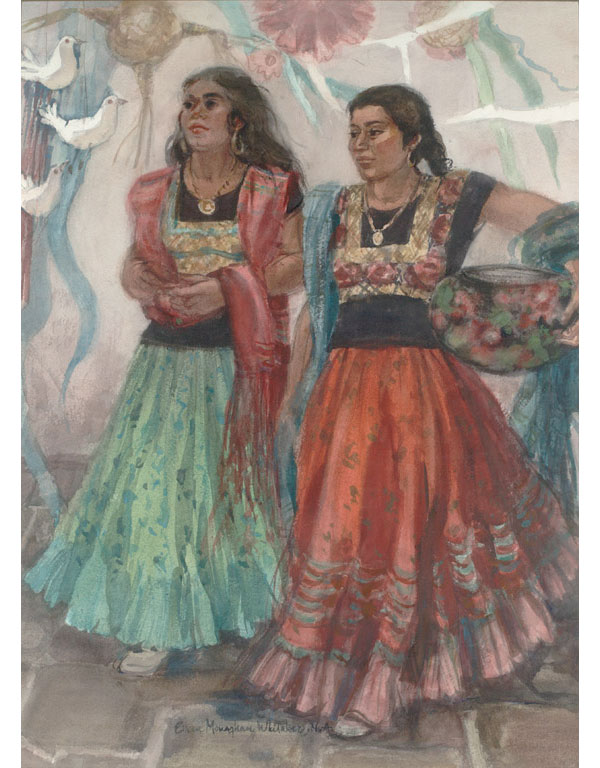 """Dressed For Fiesta"" © Eileen Monaghan Whitaker Watercolor"
