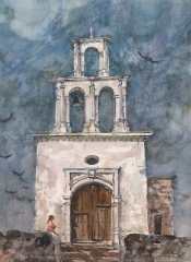"""Capilla De Zapopan"" 1978 © Eileen Monaghan Whitaker 29x21 in. Watercolor"
