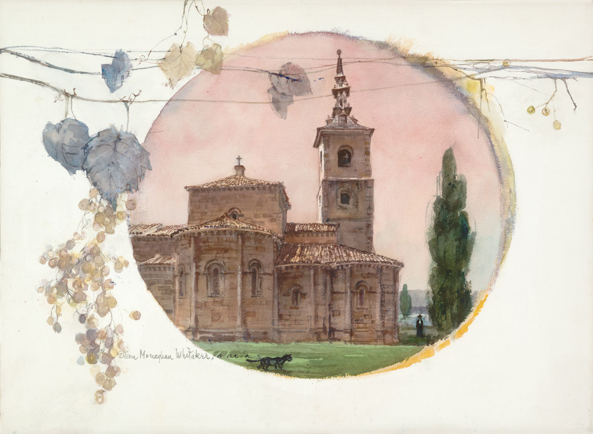 """Return to Segovia"" 1972 © Eileen Monaghan Whitaker A.N.A. 20x30 inches Watercolor"