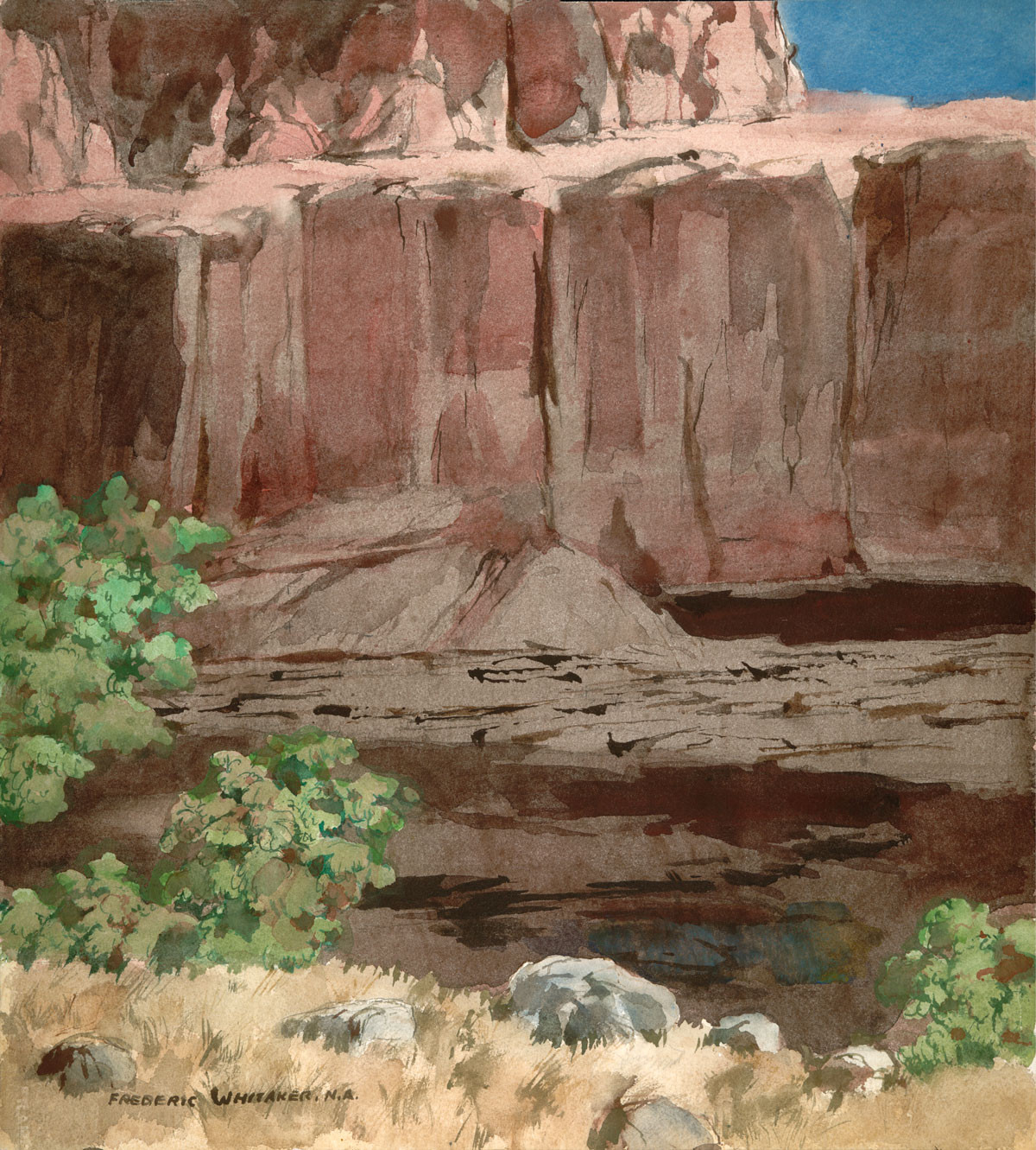 """""""Canyon de Chelly Memento 1975  © Frederic Whitaker N.A.  22x24.5 inches"""
