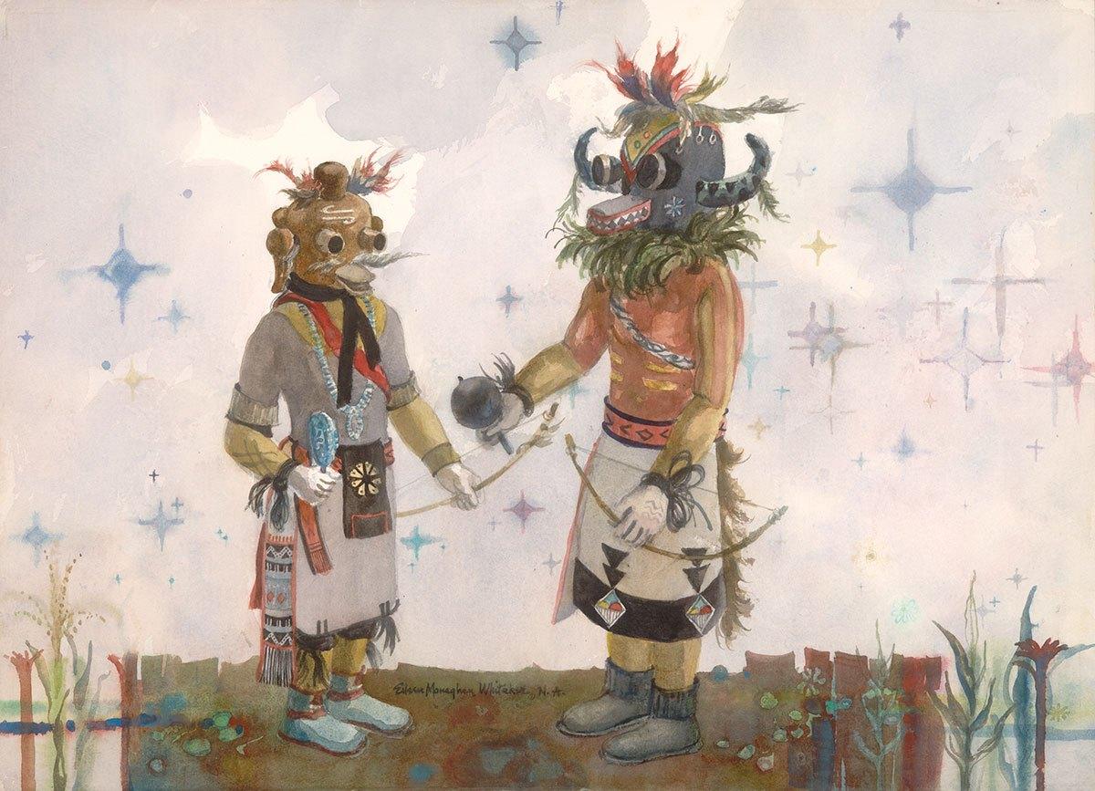 """Kachina Starlight"" © Eileen Monaghan Whitaker N.A. 22x30 inches Watercolor"