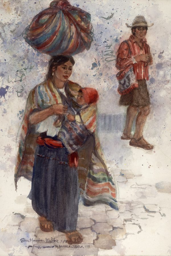 """Nahuala"" 1991 © Eileen Monaghan Whitaker 22x16 inches"
