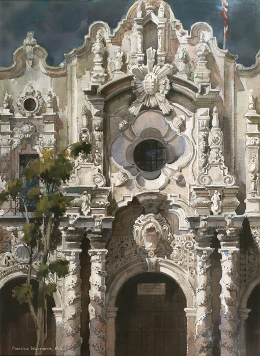 Baroque Facade | Whitaker Watercolors