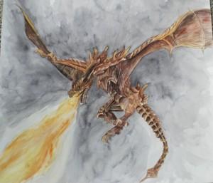 "Kimberlee Trowbridge, A Dragon's Breath, 2014 20.5"" x 19"""