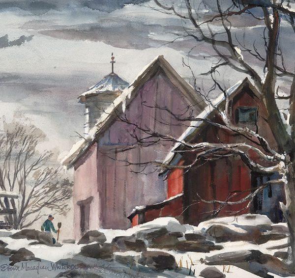 New England Winter 27 x 17