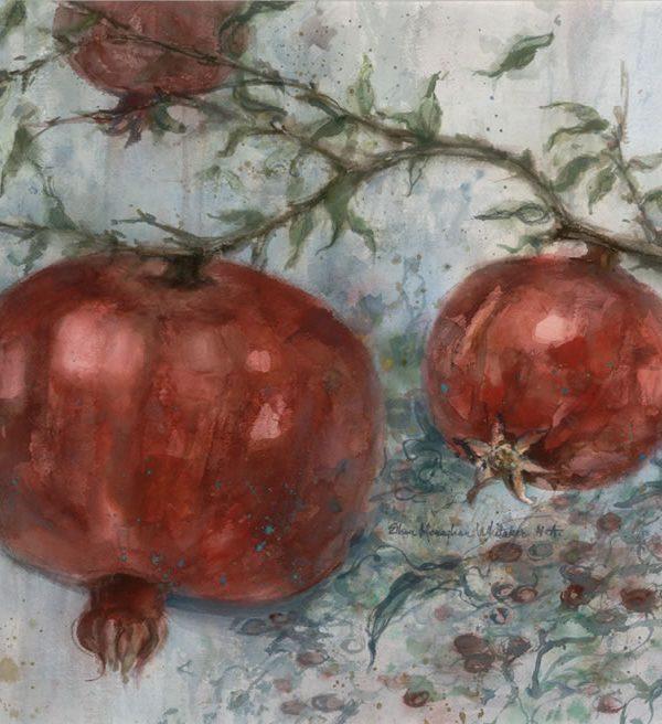 Three Pomegranates 1986 22 x 30