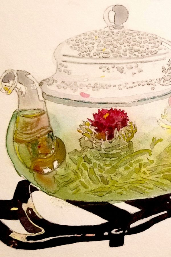 Lauren Taylor Coney watercolor Tea House 2017