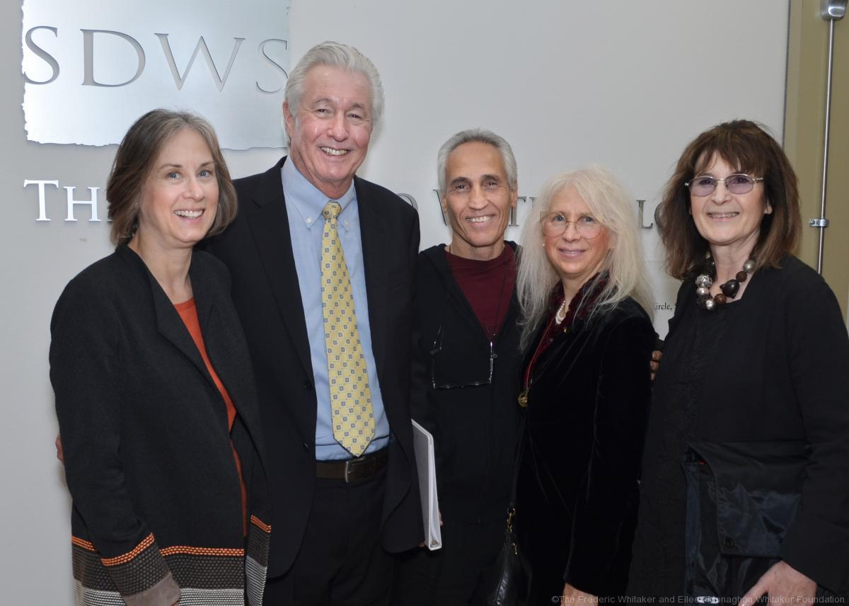 (from left to right) Jane and Scott Atkinson, Ken and Stephanie Goldman, and Foundation Director, Barbara Cox. Photo by Ion Moe